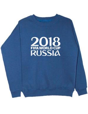 Свитшот Russia world cup 2018 индиго