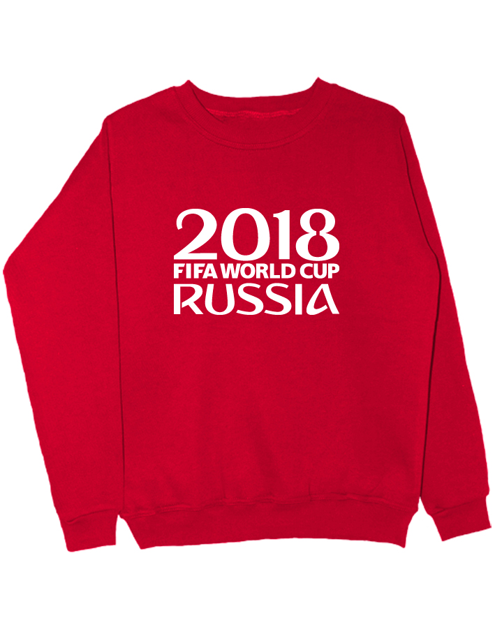 Свитшот Russia world cup 2018 красный