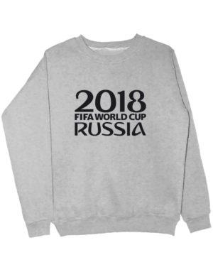Свитшот Russia world cup 2018 серый