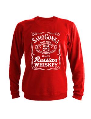 Свитшот Samogonka красный