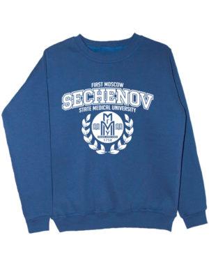 Свитшот Sechenov University индиго