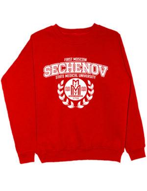 Свитшот Sechenov University красный