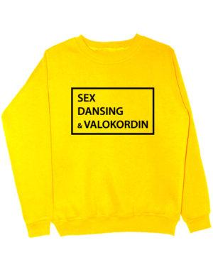 Свитшот Sex Dansing Valokordin желтый