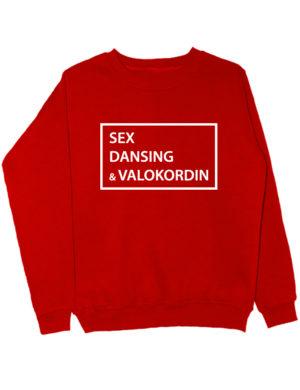 Свитшот Sex Dansing Valokordin красный