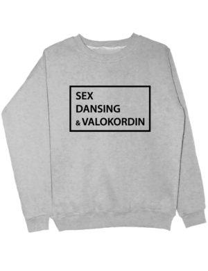 Свитшот Sex Dansing Valokordin серый