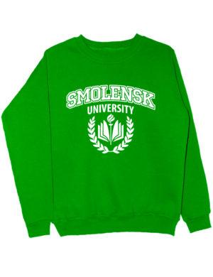 Свитшот Smolensk university зеленый