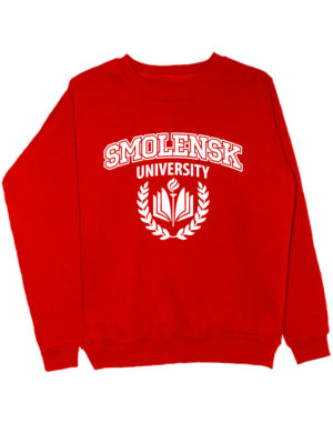 Свитшот Smolensk university красный