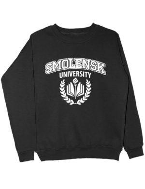 Свитшот Smolensk university черный