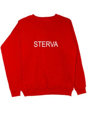 Свитшот Sterva красный