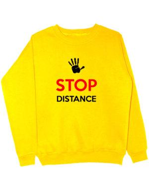 Свитшот Stop distance желтый