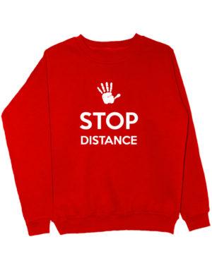 Свитшот Stop distance красный