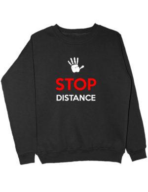 Свитшот Stop distance черный