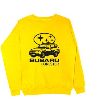 Свитшот Subaru forester желтый