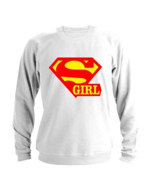 Свитшот Super girl белый