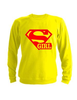Свитшот Super girl желтый