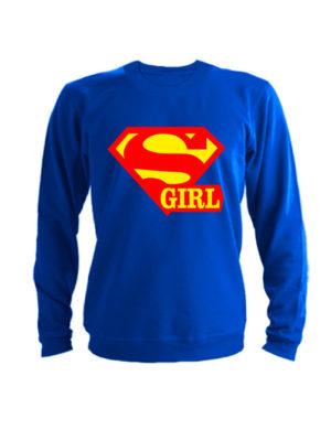 Свитшот Super girl синий