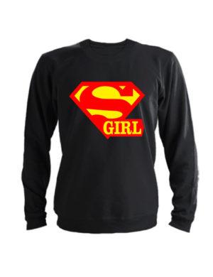 Свитшот Super girl черный