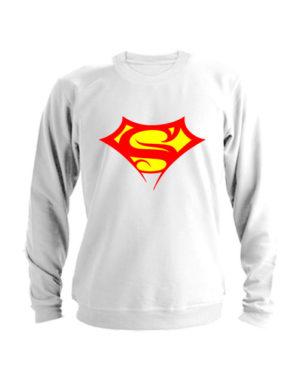 Свитшот Supergirll белый