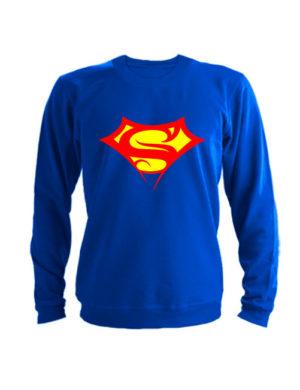 Свитшот Supergirll синий
