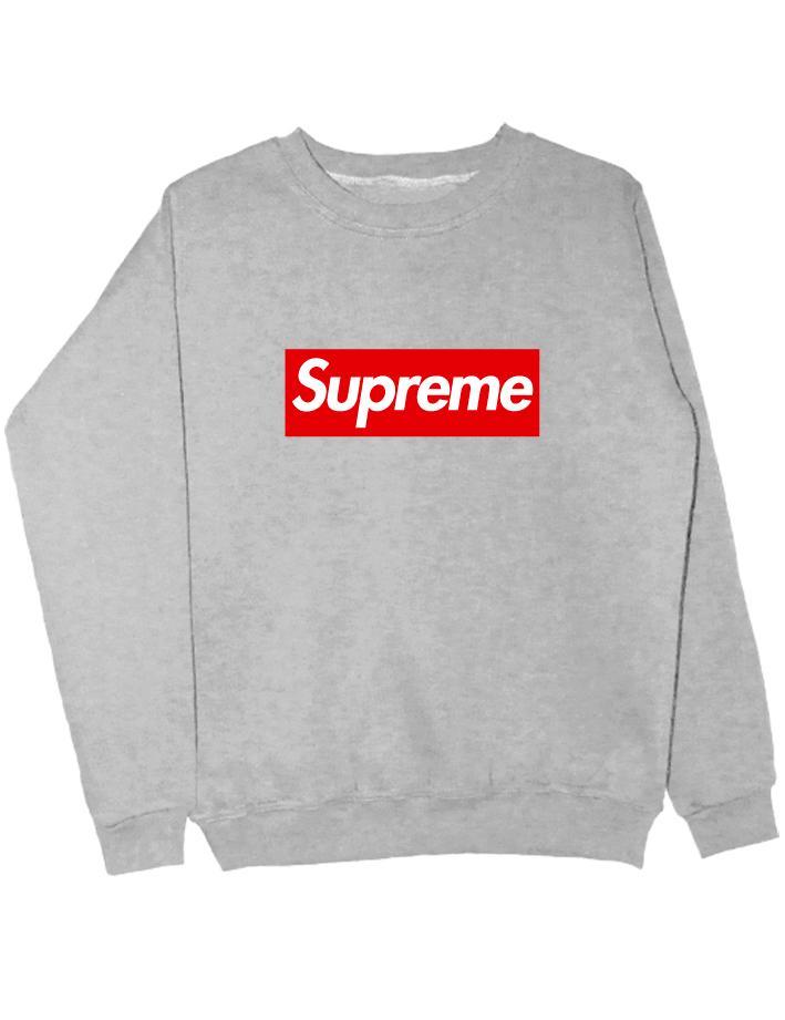 Свитшот Supreme серый