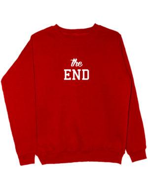 Свитшот The end красный
