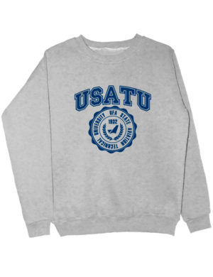 Свитшот USATU серый меланж