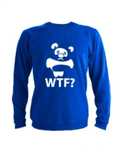 Свитшот WTF Винни Пух синий