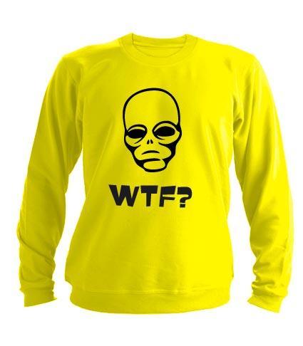 Свитшот WTF 2 желтый