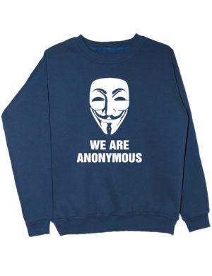 Свитшот We are anonymous индиго