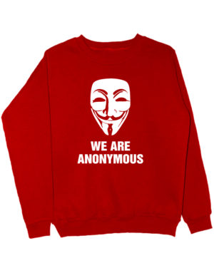Свитшот We are anonymous красный
