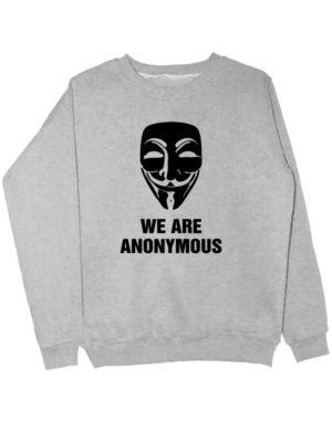 Свитшот We are anonymous серый