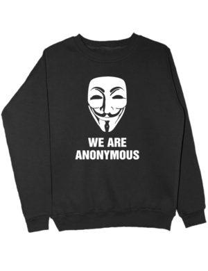 Свитшот We are anonymous черный