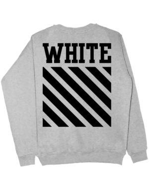 Свитшот White серый меланж