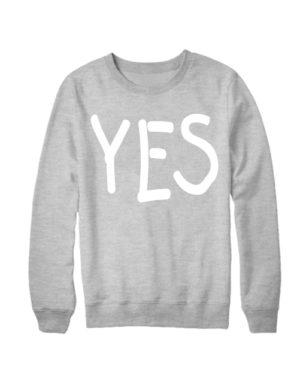 Свитшот YES серый меланж
