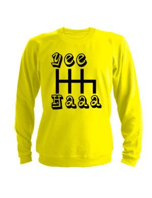 Свитшот Yeehaaa желтый