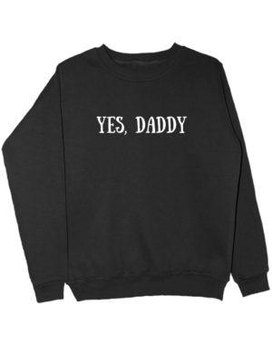 Свитшот Yes daddy черный