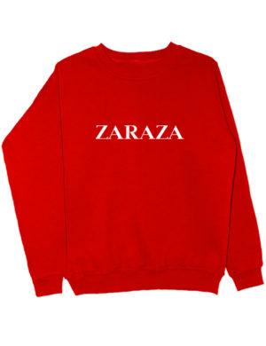 Свитшот Zaraza красный