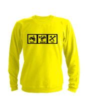 Свитшот ride break fix желтый