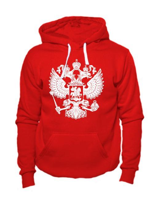Толстовка Герб РФ красная