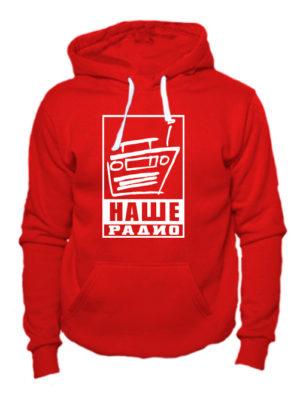 Толстовка Наше радио красная