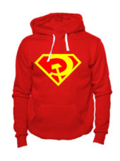 Толстовка Русский супермен красная