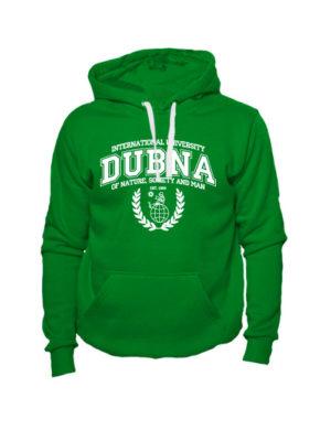 Толстовка Университет Дубна зеленая