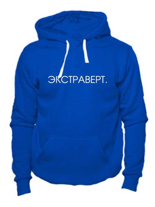 Толстовка Экстраверт синяя