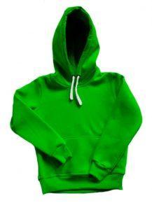Толстовка с капюшоном детская зеленая