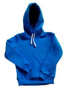 Толстовка с капюшоном детская синяя