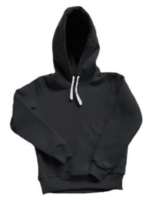 Толстовка с капюшоном детская черная