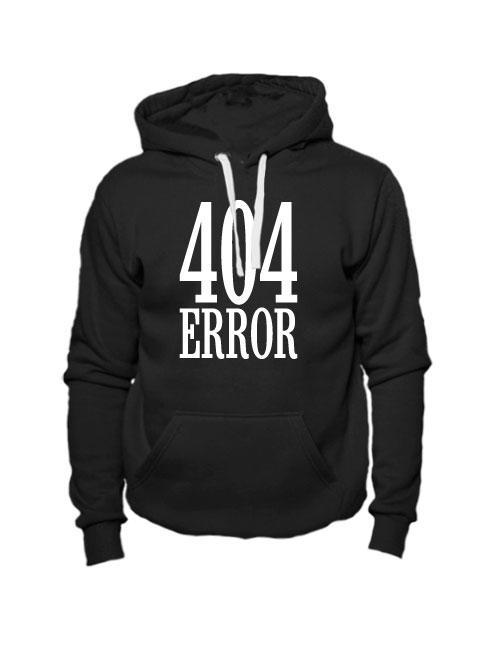 Толстовка 404 error черная