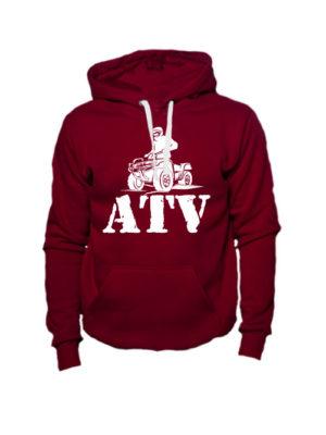 Толстовка ATV бордовая