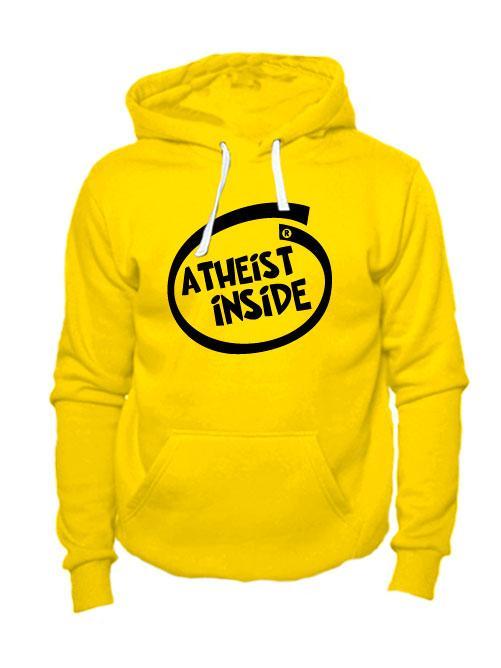Толстовка Atheist inside желтая