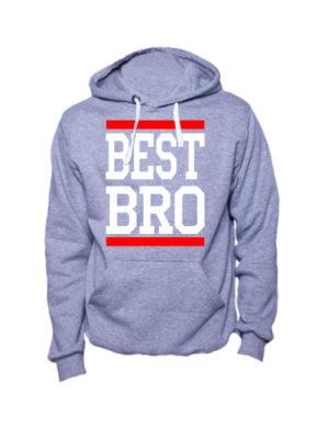 Толстовка Best bro серая